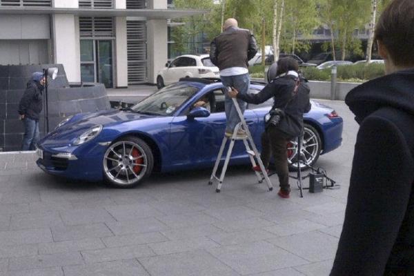 Amber jewellery shoot with Porsche